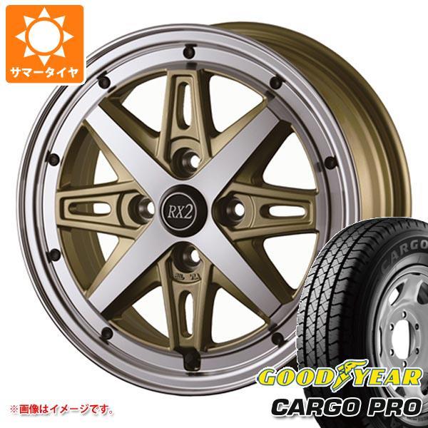 サマータイヤ 155R12 6PR グッドイヤー カーゴ プロ (155/80R12 83/81N相当) ドゥオール フェニーチェ RX2 4.0-12 タイヤホイール4本セット