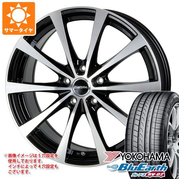 サマータイヤ 215/45R17 91W XL ヨコハマ ブルーアース RV-02 ラフィット LE-03 7.0-17 タイヤホイール4本セット