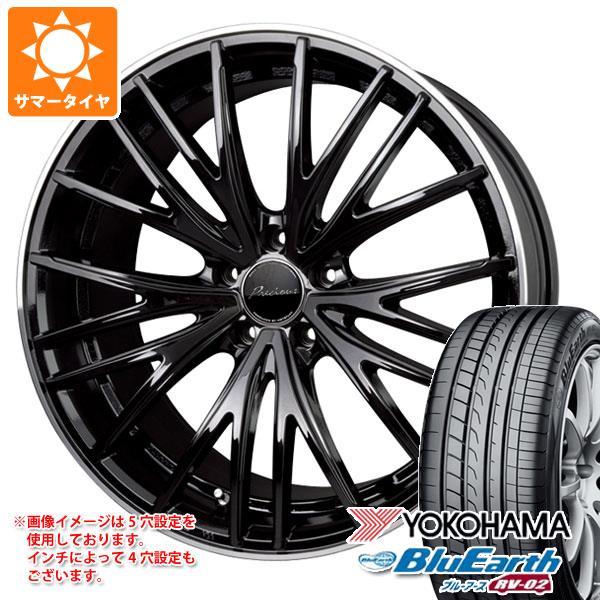 サマータイヤ 215/60R17 96H ヨコハマ ブルーアース RV-02 プレシャス アスト M1 7.0-17 タイヤホイール4本セット