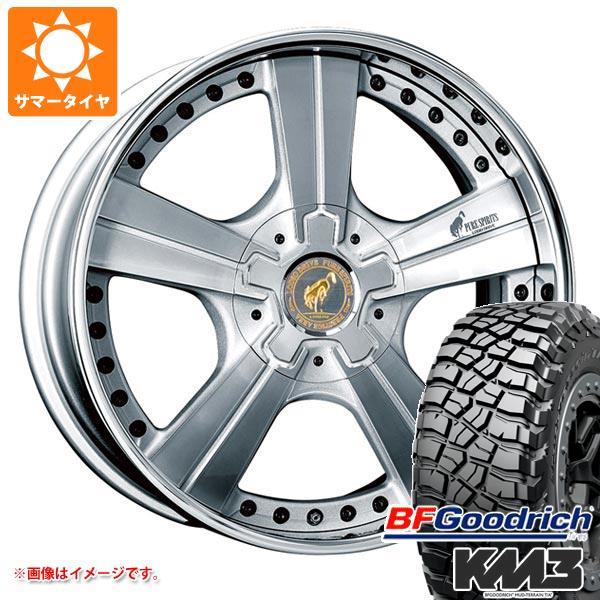 サマータイヤ 285/55R20 122/119Q BFグッドリッチ マッドテレーン T/A KM3 ブラックレター スーパースター ピュアスピリッツ オークス 8.0-20 タイヤホイール4本セット