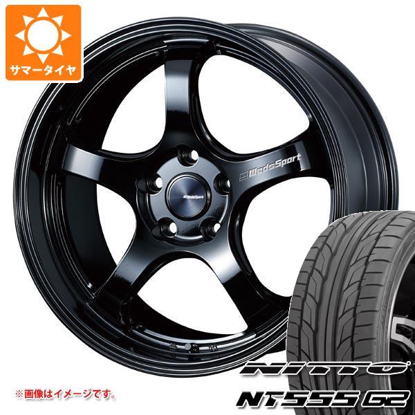 サマータイヤ 215/45R18 93Y XL ニットー NT555 G2 ウェッズスポーツ RN-05M 7.5-18 タイヤホイール4本セット