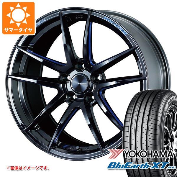 サマータイヤ 225/50R18 95V ヨコハマ ブルーアースXT AE61 ウェッズスポーツ RN-55M 7.5-18 タイヤホイール4本セット