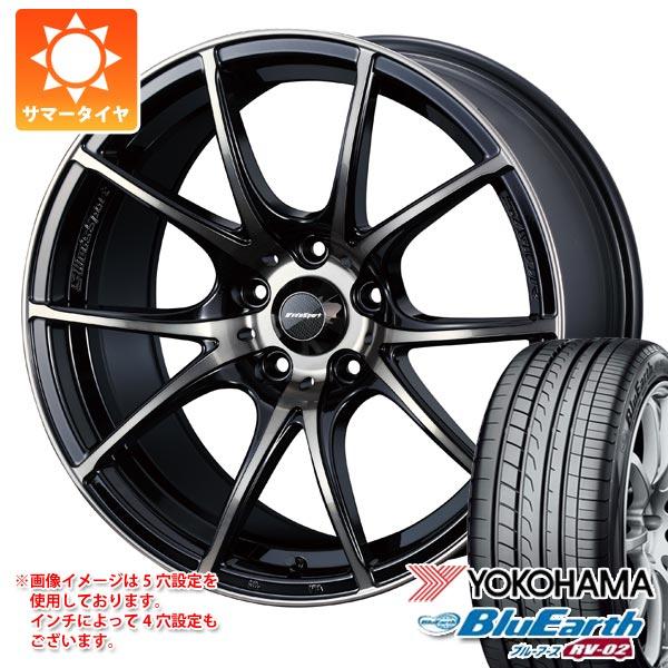 サマータイヤ 165/55R15 75V ヨコハマ ブルーアース RV-02CK ウェッズスポーツ SA-10R 5.0-15 タイヤホイール4本セット