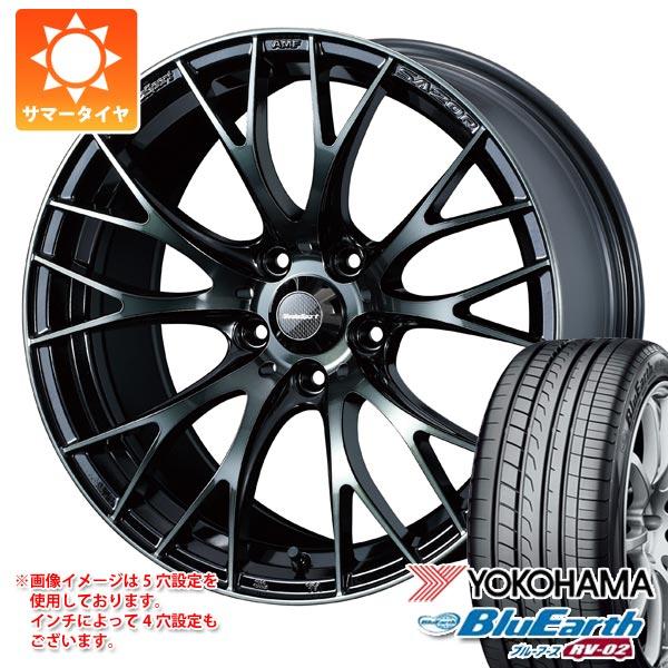 2020年製 サマータイヤ 195/60R16 89H ヨコハマ ブルーアース RV-02 ウェッズスポーツ SA-20R 7.0-16 タイヤホイール4本セット