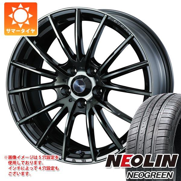 サマータイヤ 185/55R15 82V ネオリン ネオグリーン ウェッズスポーツ SA-35R 6.0-15 タイヤホイール4本セット