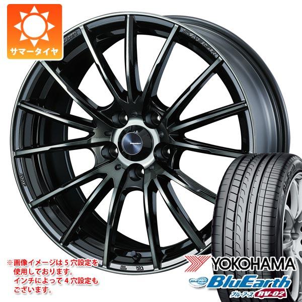 2020年製 サマータイヤ 195/60R16 89H ヨコハマ ブルーアース RV-02 ウェッズスポーツ SA-35R 7.0-16 タイヤホイール4本セット