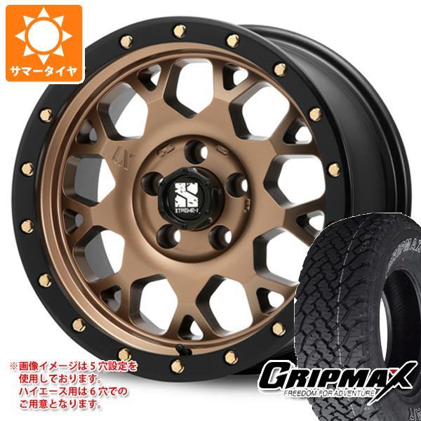 ハイエース 200系専用 サマータイヤ グリップマックス グリップマックス A/T 215/70R16 100T アウトラインホワイトレター エクストリームJ XJ04 MB 6.5-16 タイヤホイール4本セット