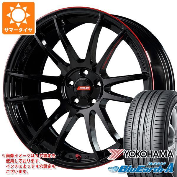 サマータイヤ 235/55R18 104W XL ヨコハマ ブルーアース・エース AE50 レイズ グラムライツ 57エクストリーム レブリミットエディション 8.5-18 タイヤホイール4本セット