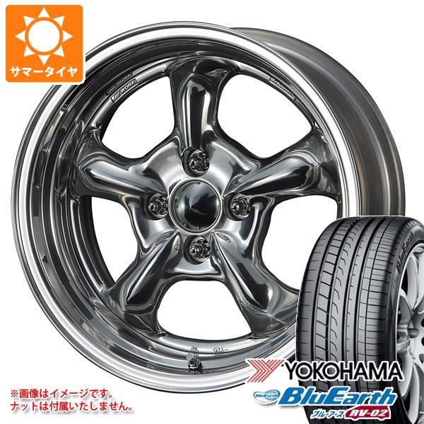 サマータイヤ 165/60R15 77H ヨコハマ ブルーアース RV-02CK グッカーズ ヘミ 5.5-15 タイヤホイール4本セット