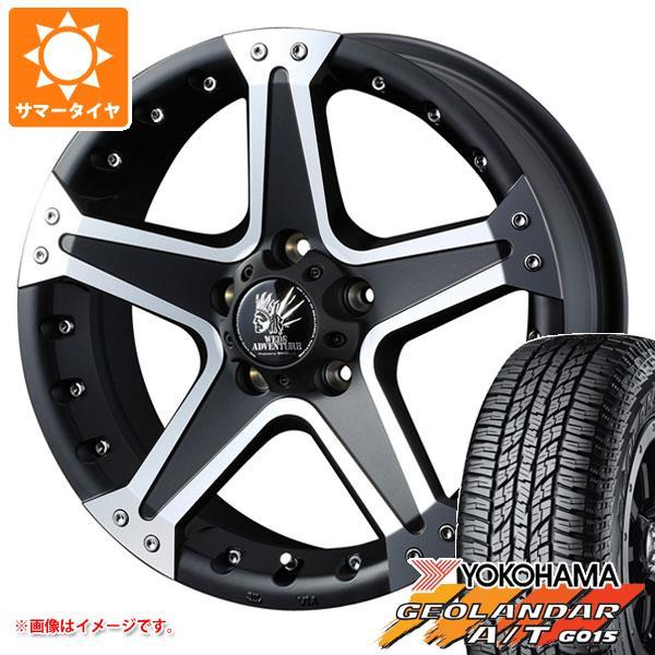 サマータイヤ 225/60R17 99H ヨコハマ ジオランダー A/T G015 ブラックレター マッド ヴァンス 01 7.0-17 タイヤホイール4本セット