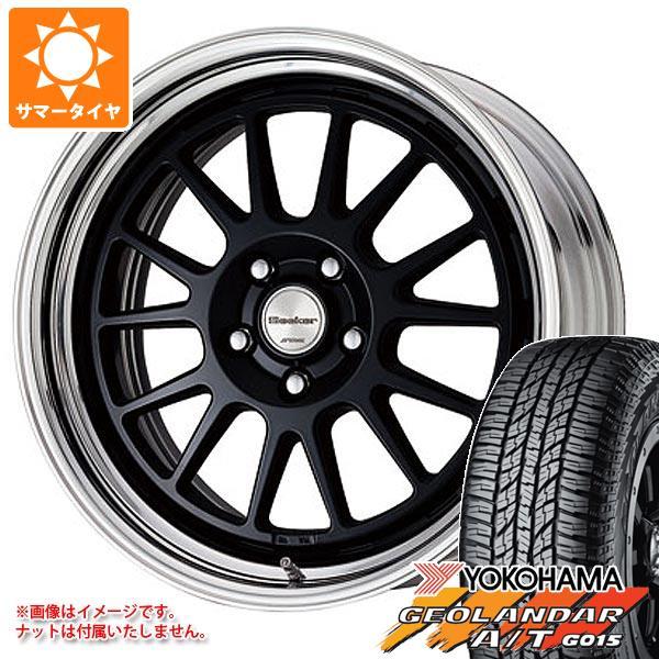 サマータイヤ 235/55R18 104H XL ヨコハマ ジオランダー A/T G015 ブラックレター シーカー FX 8.0-18 タイヤホイール4本セット