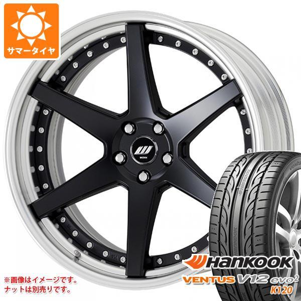サマータイヤ 245/40R19 98Y XL ハンコック ベンタス V12evo2 K120 ワーク ジースト ST1 8.0-19 タイヤホイール4本セット