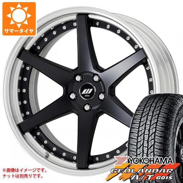 サマータイヤ 235/55R18 104H XL ヨコハマ ジオランダー A/T G015 ブラックレター ジースト ST1 8.0-18 タイヤホイール4本セット