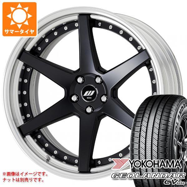 サマータイヤ 235/55R18 100V ヨコハマ ジオランダー CV ジースト ST1 8.0-18 タイヤホイール4本セット