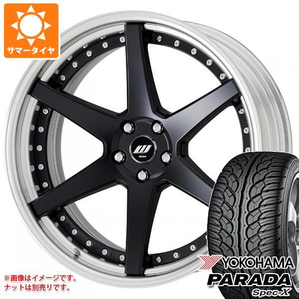 サマータイヤ 235/55R20 102V ヨコハマ パラダ スペック-X PA02 ワーク ジースト ST1 8.0-20 タイヤホイール4本セット