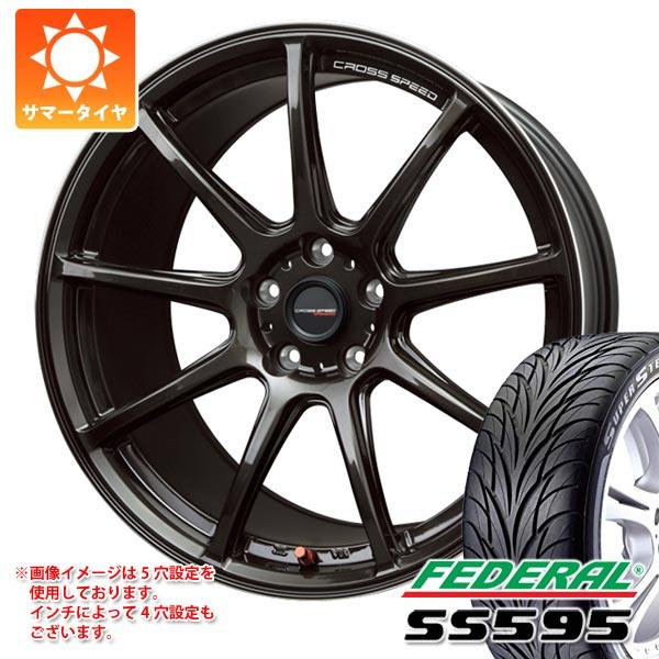 サマータイヤ 225/45R17 91V フェデラル SS595 クロススピード ハイパーエディション RS9 7.0-17 タイヤホイール4本セット