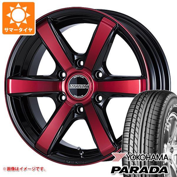 ハイエース 200系専用 サマータイヤ ヨコハマ パラダ PA03 215/60R17C 109/107S ホワイトレター エセックス EC 6.5-17 タイヤホイール4本セット