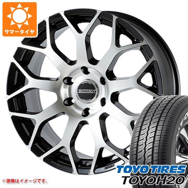 ハイエース 200系専用 サマータイヤ トーヨー H20 225/50R18C 107/105R ブラックレター エセックス EM 8.0-18 タイヤホイール4本セット