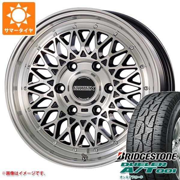 ハイエース 200系専用 サマータイヤ ブリヂストン デューラー A/T 001 215/70R16 100S ブラックレター エセックス ENCM 6.5-16 タイヤホイール4本セット