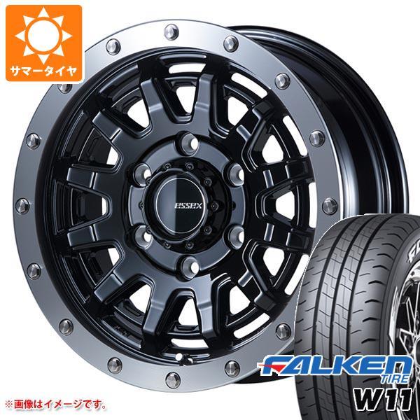 ハイエース 200系専用 サマータイヤ ファルケン W11 195/80R15 107/105N ホワイトレター エセックス EX-15 6.0-15 タイヤホイール4本セット