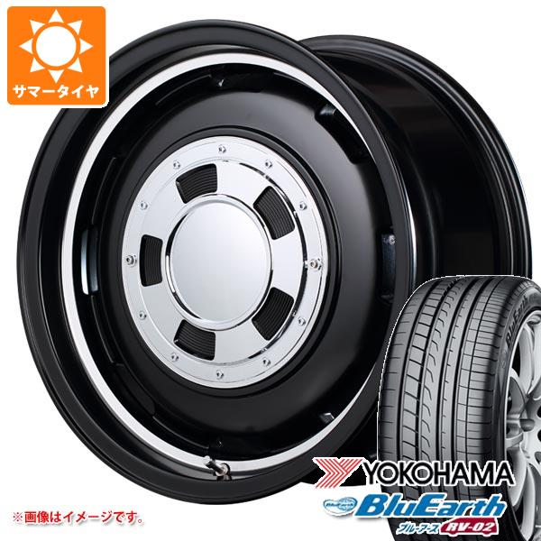 サマータイヤ 165/60R15 77H ヨコハマ ブルーアース RV-02CK ガルシア シスコ 4.5-15 タイヤホイール4本セット