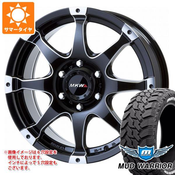 サマータイヤ 265/60R18 119/116Q モンスタ マッドウォーリアー ホワイトレター MKW MK-76 8.0-18 タイヤホイール4本セット