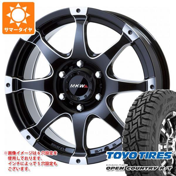 サマータイヤ 225/60R18 100Q トーヨー オープンカントリー R/T ホワイトレター MKW MK-76 8.0-18 タイヤホイール4本セット