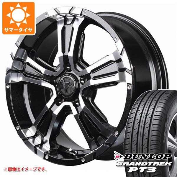 サマータイヤ 215/70R16 100H ダンロップ グラントレック PT3 ナイトロパワー クロスクロウ 7.0-16 タイヤホイール4本セット
