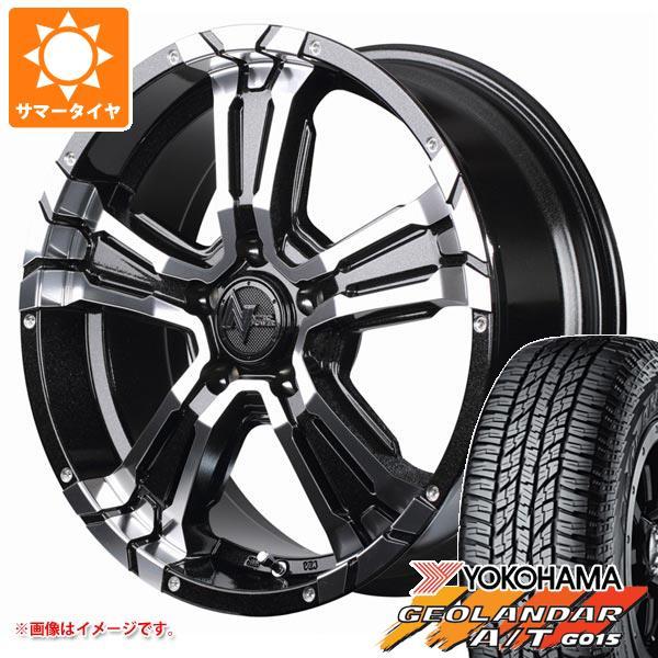 サマータイヤ 215/70R16 100H ヨコハマ ジオランダー A/T G015 ブラックレター ナイトロパワー クロスクロウ 7.0-16 タイヤホイール4本セット
