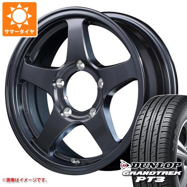 ジムニー専用 サマータイヤ ダンロップ グラントレック PT3 175/80R16 91S オフパフォーマー RT-5Nプラス 5.5-16 タイヤホイール4本セット