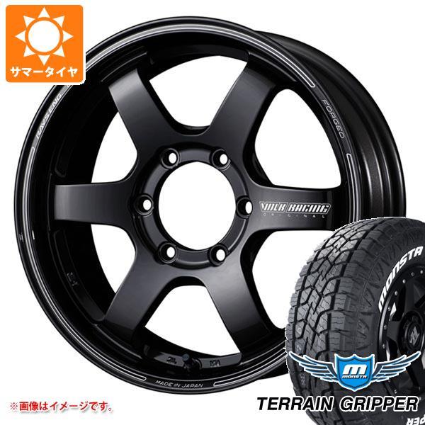 サマータイヤ 265/60R18 114T XL モンスタ テレーングリッパー ホワイトレター レイズ ボルクレーシング TE37SB 8.0-18 タイヤホイール4本セット