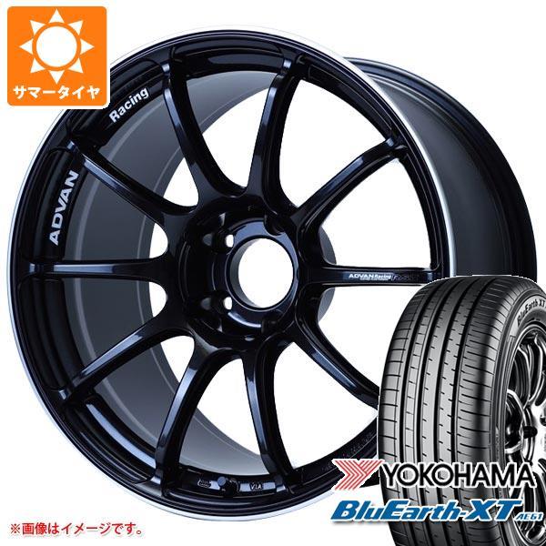 サマータイヤ 235/55R18 100V ヨコハマ ブルーアースXT AE61 アドバンレーシング RS3 8.0-18 タイヤホイール4本セット