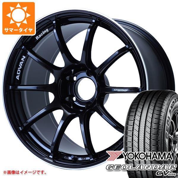 サマータイヤ 235/55R18 100V ヨコハマ ジオランダー CV アドバンレーシング RS3 8.0-18 タイヤホイール4本セット