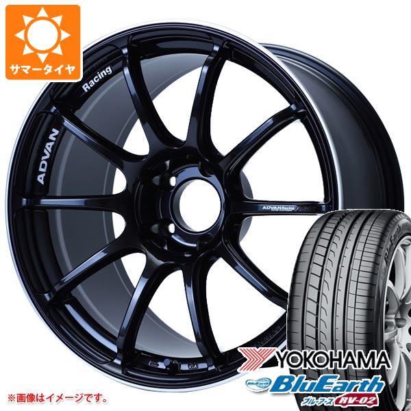 サマータイヤ 215 45R18 93W XL ヨコハマ ブルーアース RV-02 アドバンレーシング RS3 7.5-18 タイヤホイール4本セット 七五三 誕生日 節分 成人の日 法要