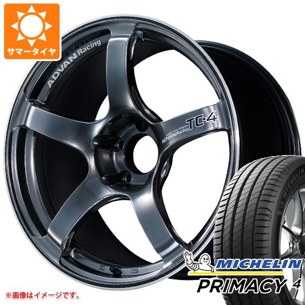 サマータイヤ 225/45R18 95Y XL ミシュラン プライマシー4 アドバンレーシング TC-4 8.0-18 タイヤホイール4本セット 正規品