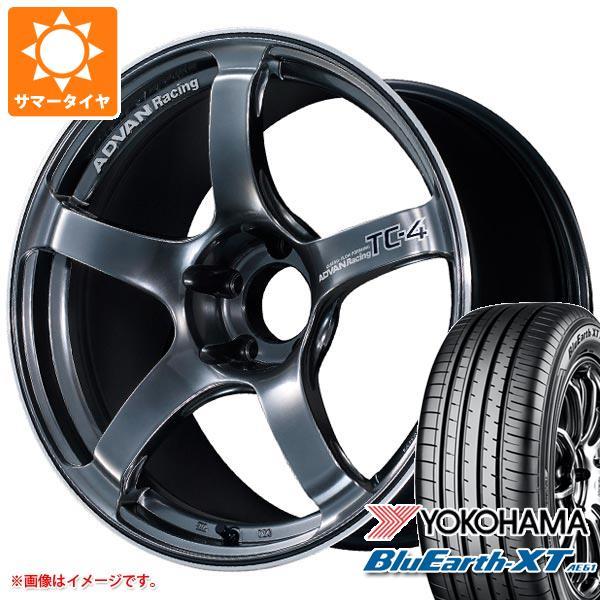 サマータイヤ 225/60R18 100H ヨコハマ ブルーアースXT AE61 アドバンレーシング TC-4 8.0-18 タイヤホイール4本セット