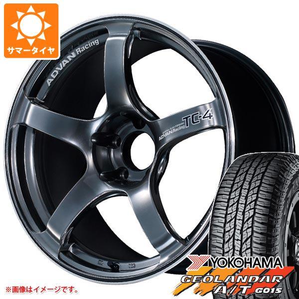 サマータイヤ 235/55R18 104H XL ヨコハマ ジオランダー A/T G015 ブラックレター アドバンレーシング TC-4 7.5-18 タイヤホイール4本セット