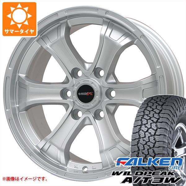 サマータイヤ 265/75R16 123/120Q ファルケン ワイルドピーク A/T3W B マッド K 8.0-16 タイヤホイール4本セット