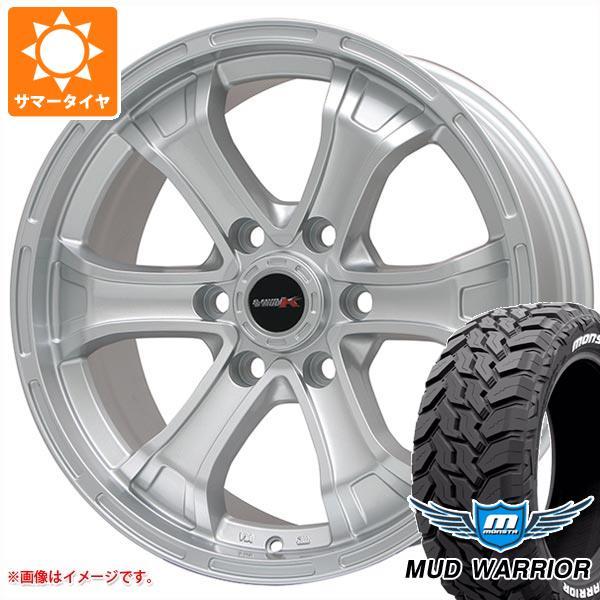 サマータイヤ 265/75R16 123/120Q モンスタ マッドウォーリアー ホワイトレター B マッド K 8.0-16 タイヤホイール4本セット