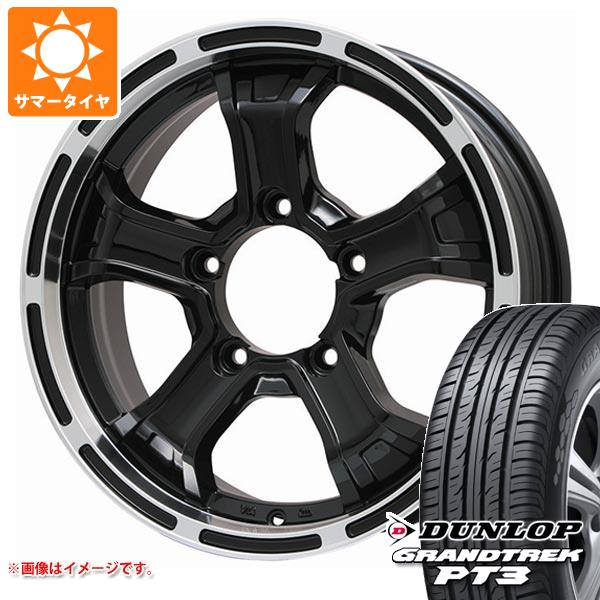 ジムニー専用 サマータイヤ ダンロップ グラントレック PT3 175/80R16 91S B マッド K GB/リムP 5.5-16 タイヤホイール4本セット