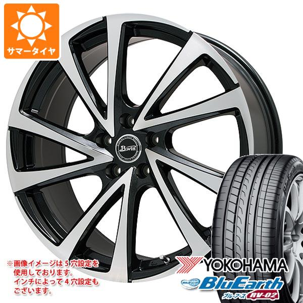 サマータイヤ 215/65R15 96H ヨコハマ ブルーアース RV-02 ビーウィン ヴェノーザ10 6.0-15 タイヤホイール4本セット