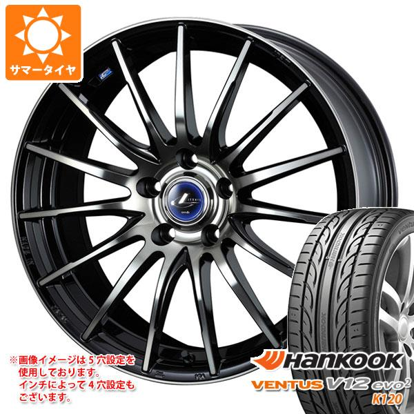 サマータイヤ 215/45R17 91Y XL ハンコック ベンタス V12evo2 K120 レオニス ナヴィア 05 BPB 7.0-17 タイヤホイール4本セット