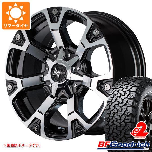 サマータイヤ 265/60R18 119/116S BFグッドリッチ オールテレーン T/A KO2 ブラックレター ナイトロパワー ウォーヘッド 8.0-18 タイヤホイール4本セット