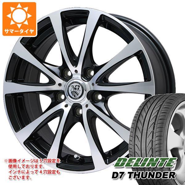 サマータイヤ 225/45R18 95W XL デリンテ D7 サンダー TRG-BAHN XP 7.5-18 タイヤホイール4本セット