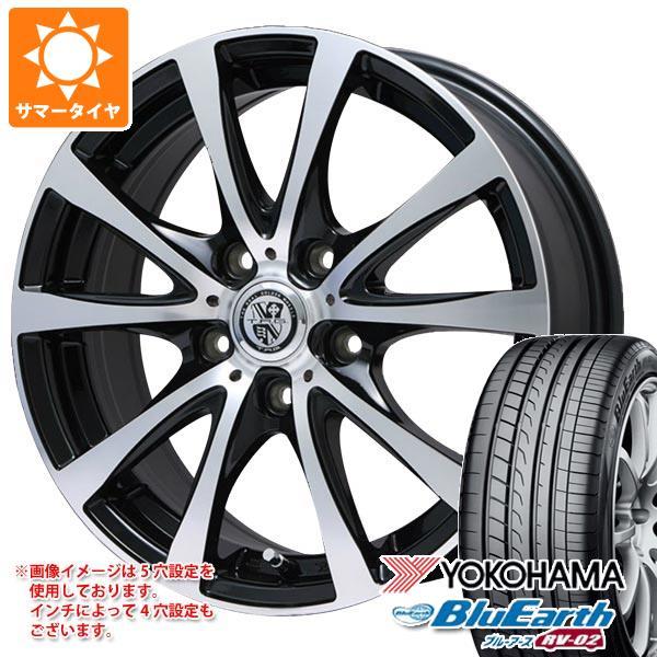 サマータイヤ 155/65R14 75H ヨコハマ ブルーアース RV-02CK TRG-BAHN XP 4.5-14 タイヤホイール4本セット