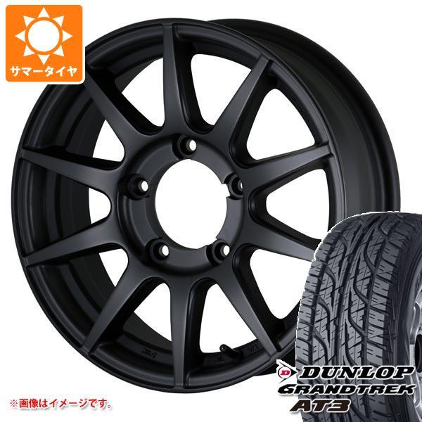 サマータイヤ 215/70R16 100S ダンロップ グラントレック AT3 ブラックレター ドゥオール CST ゼロワンハイパー XJ ジムニーシエラ専用 6.0-16 タイヤホイール4本セット