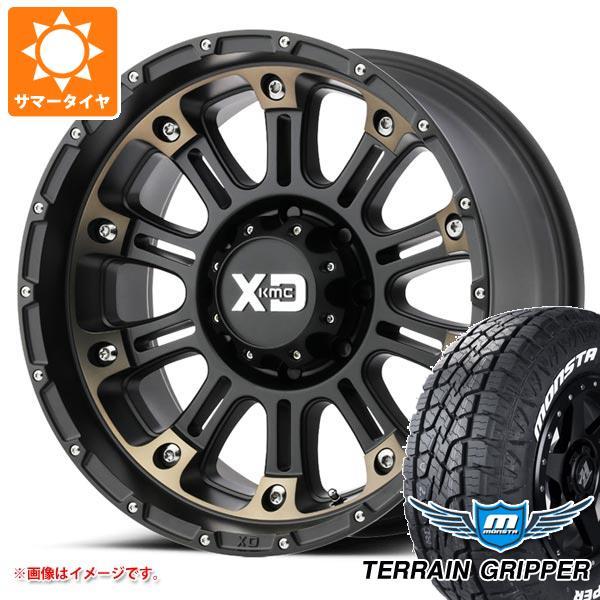 サマータイヤ 285/70R17 121/118R モンスタ テレーングリッパー ホワイトレター KMC XD829 ホス2 9.0-17 タイヤホイール4本セット