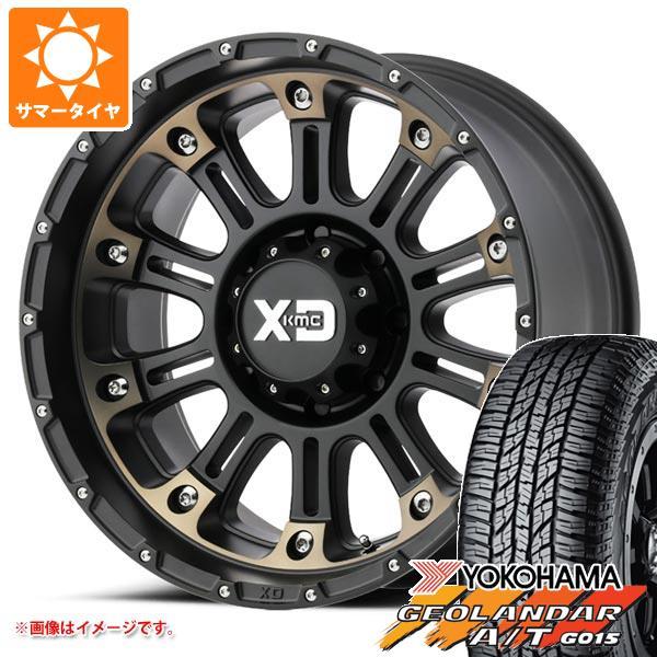 サマータイヤ 285/55R20 122/119S ヨコハマ ジオランダー A/T G015 ブラックレター KMC XD829 ホス2 9.0-20 タイヤホイール4本セット