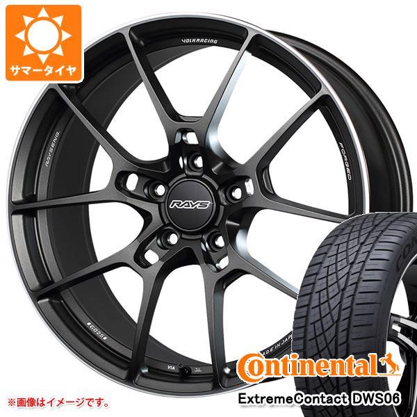正規品 サマータイヤ 235/55R19 105W XL コンチネンタル エクストリームコンタクト DWS06 レイズ ボルクレーシング G025 8.0-19 タイヤホイール4本セット