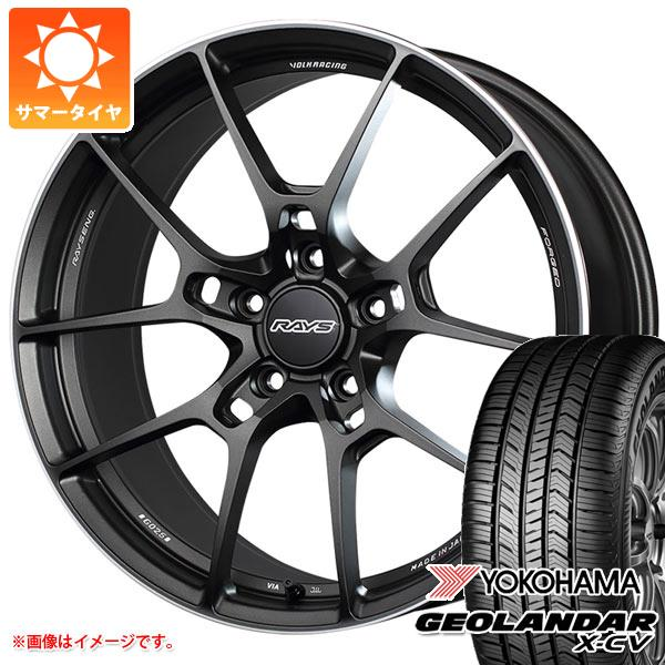 サマータイヤ 235/55R19 105W XL ヨコハマ ジオランダー X-CV G057 レイズ ボルクレーシング G025 8.0-19 タイヤホイール4本セット